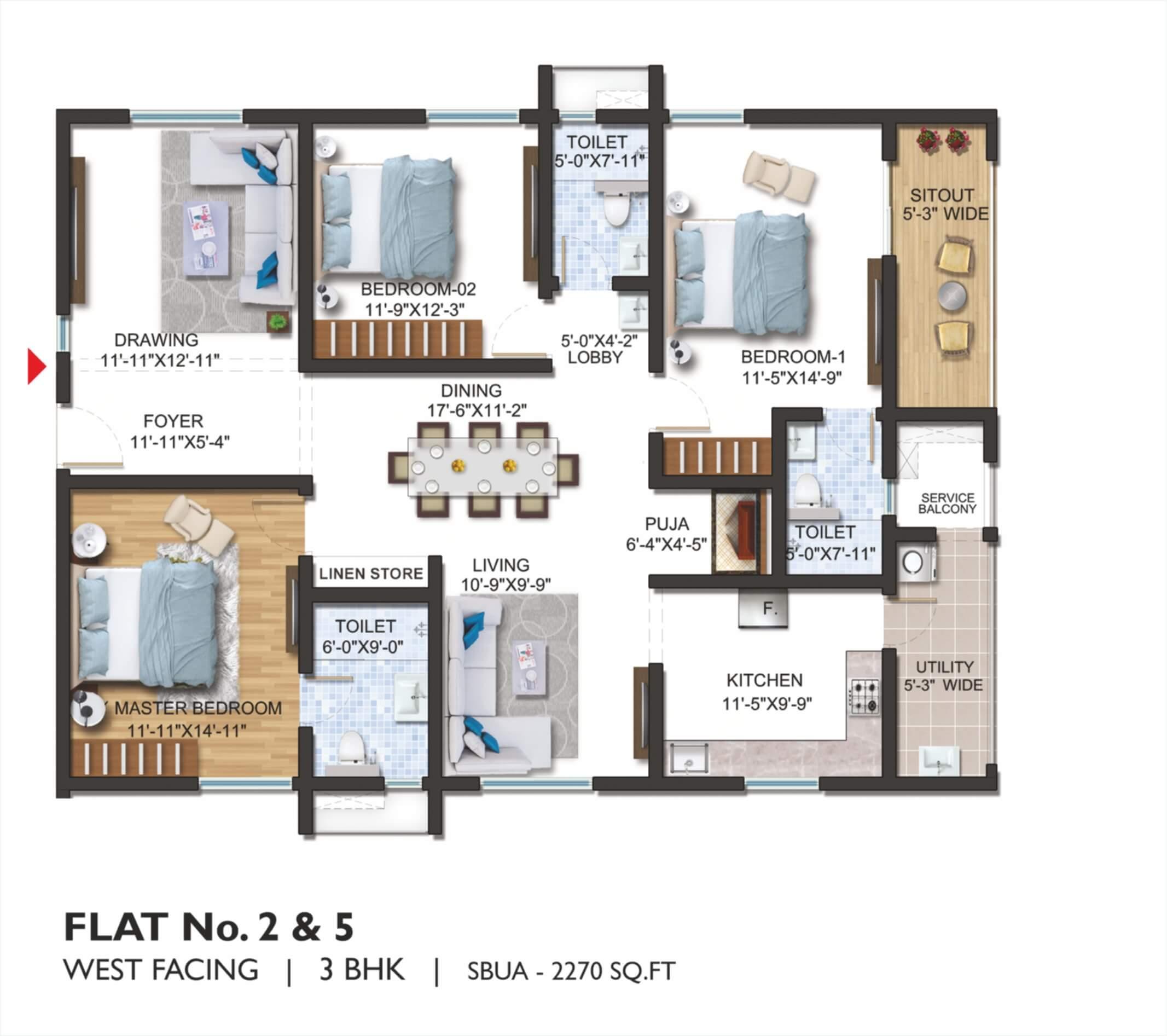FLAT NO.2 _ 5