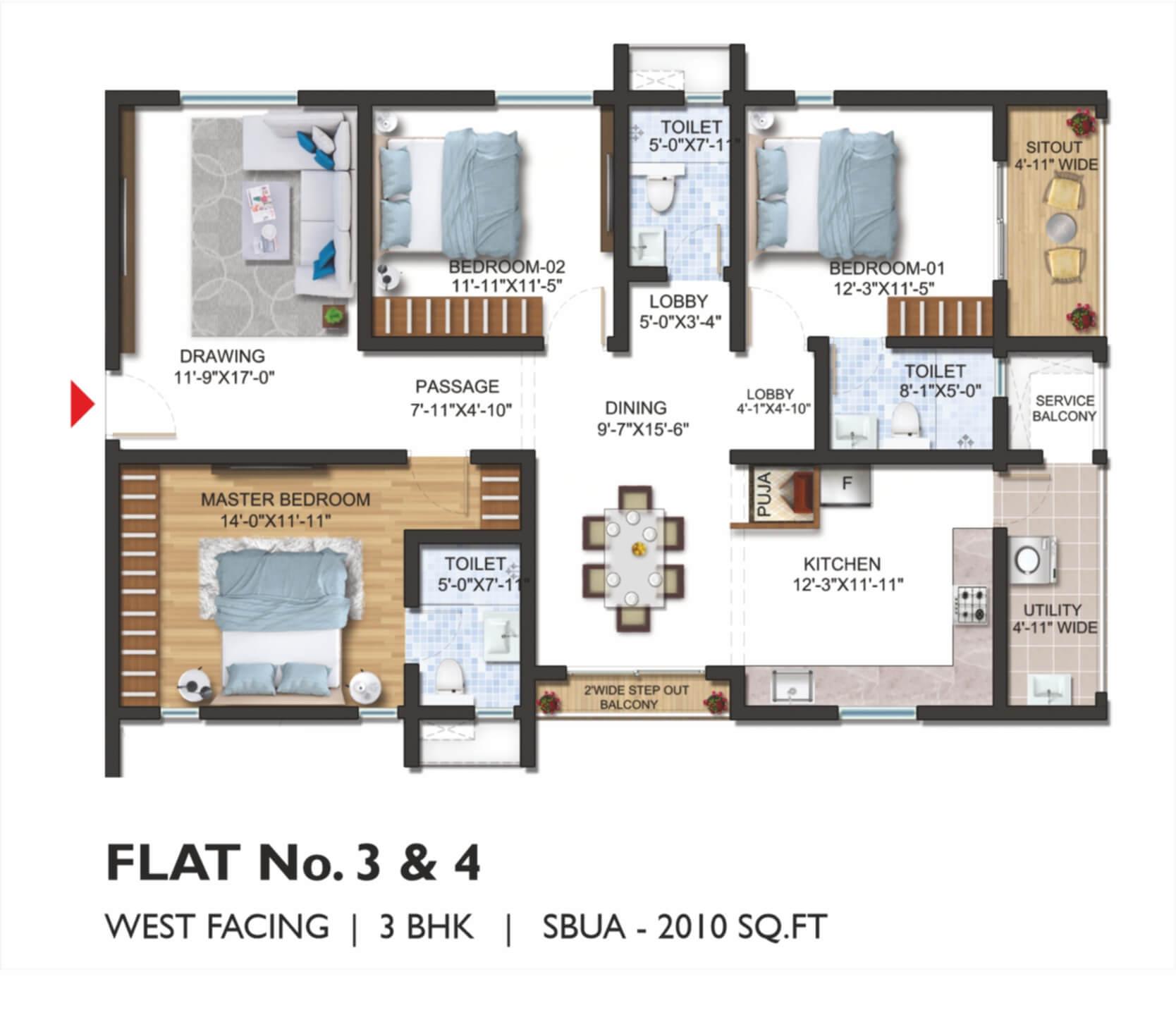 FLAT No. 03 _ 04