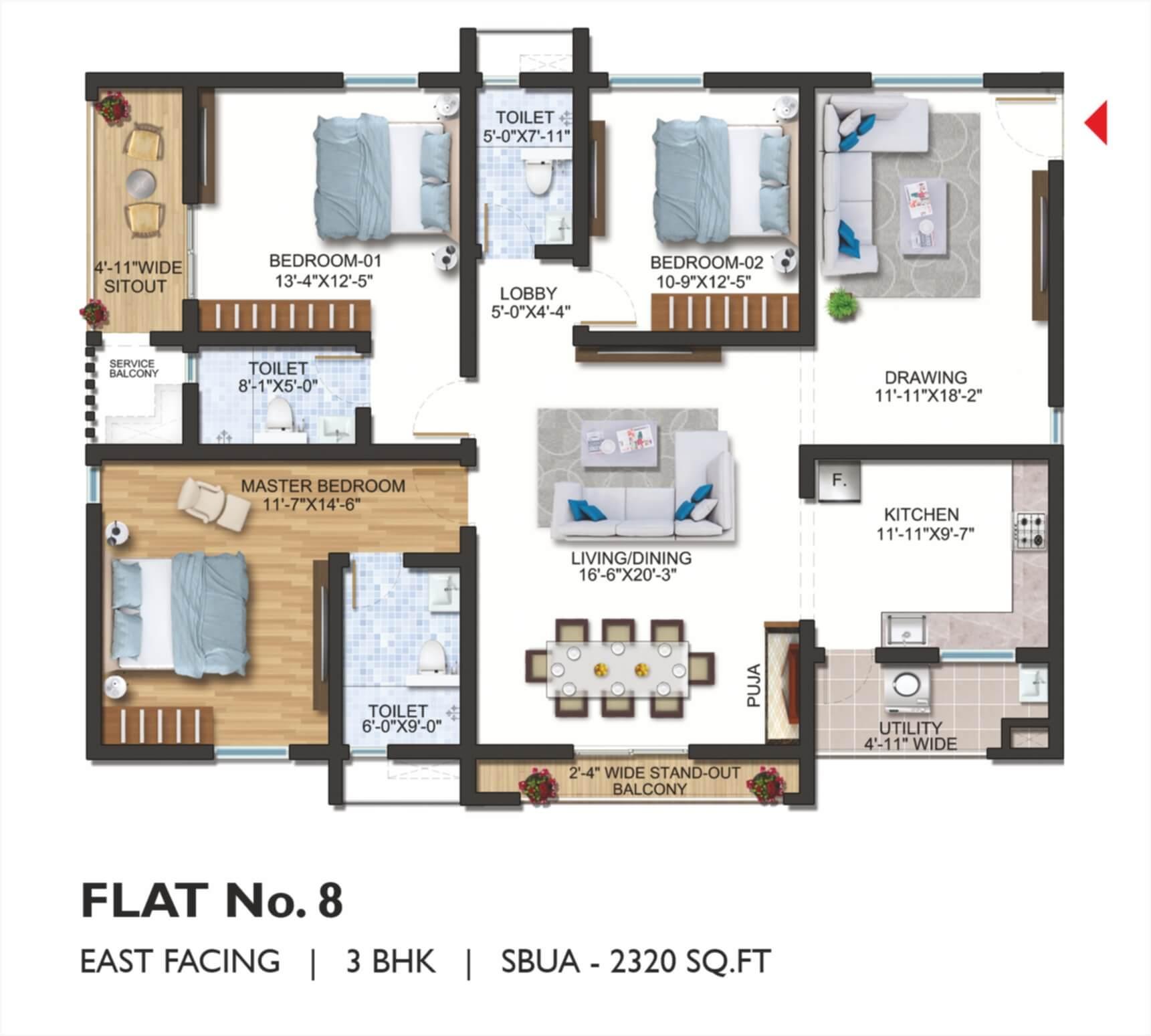 FLAT No. 08