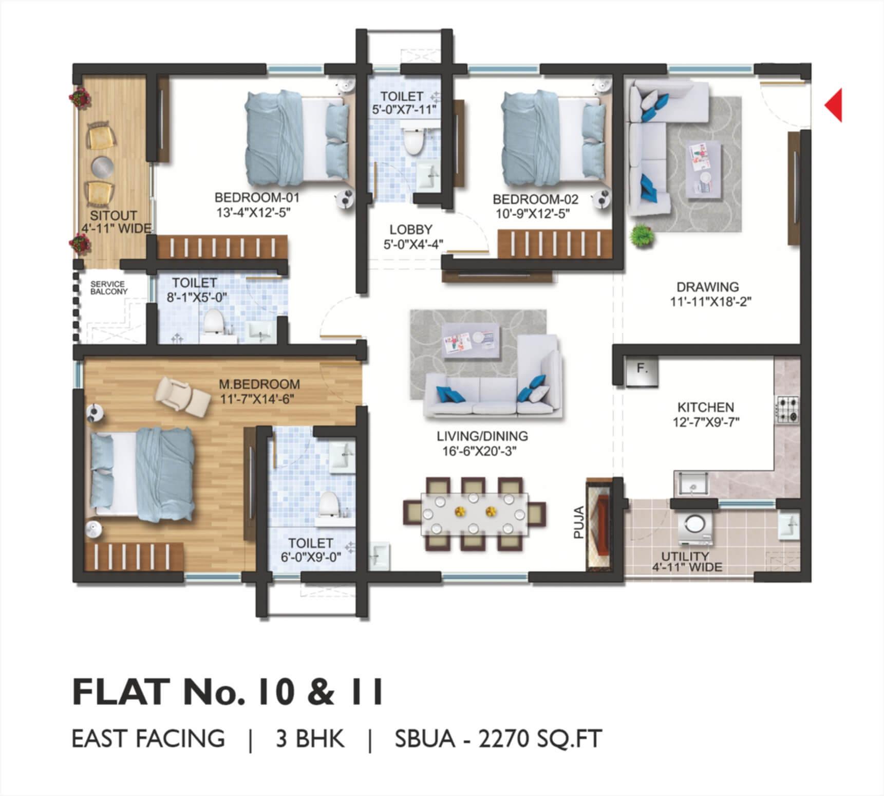 FLAT No. 10 _ 11